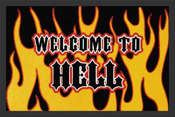 """Rockbites - Fußmatte """"Welcome to Hell"""" Türmatte Fußabstreifer 57 (100663)"""
