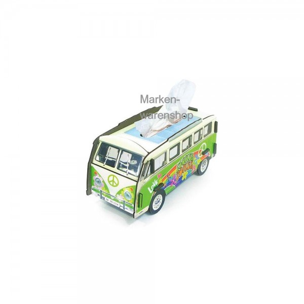 Werkhaus - Tissue Box Tücherbox Kosmetiktücherbox, VW Bulli Hippie Bus