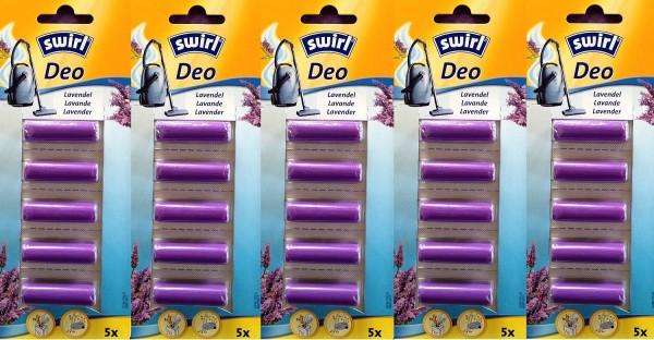 5 x SWIRL Staubsauger Lavendel Deo Staubsaugerduft Lufterfrischer Duftstäbchen