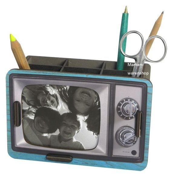 Werkhaus - Stiftebox & Bilderrahmen Stifteköcher Stiftehalter TV Blau