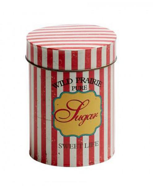 "EJA - Dose ""Sugar"" (1375003) Dekodose Metalldose Zuckerdose Retro Shabby Vintage"
