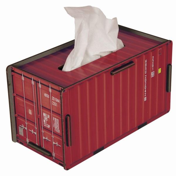 """Werkhaus - Tücherbox """"Container"""" Rot CO1022 Kosmetiktücherbox Tissuebox"""