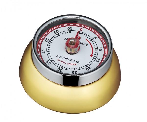 """Zassenhaus Küchentimer magnetisch """"Speed"""" Messing 072785 Kurzzeitmesser Eieruhr"""