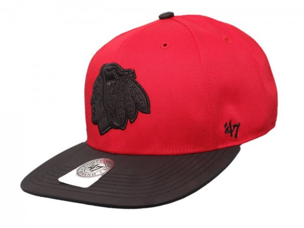 "47 Brand - NHL Cap Basecap Kappe Mütze Eishockey ""Chicago Blackhawks"" (Nr. 103)"