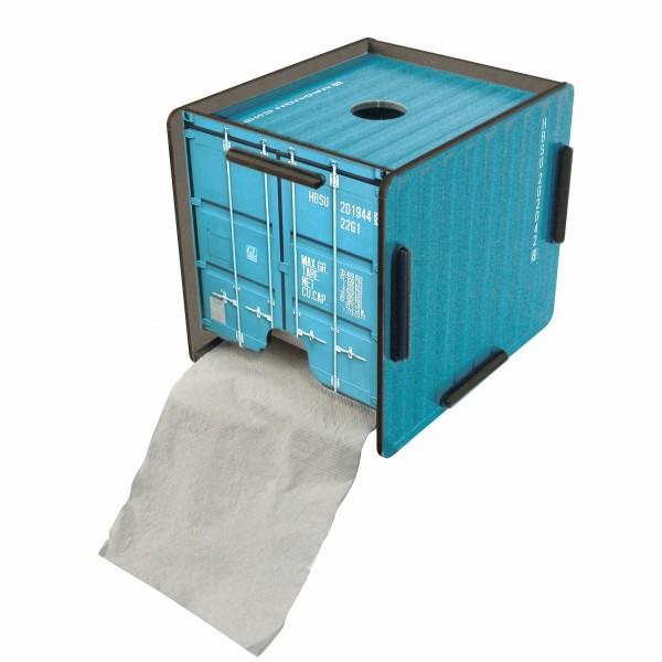 Werkhaus ToPa Container Türkis CO1203 Toilettenpapier Klopapier WC Rollen Halter