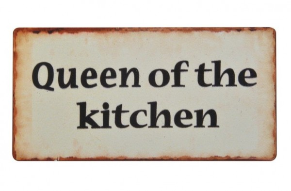 Laursen - Magnet Blechschild Queen of the kitchen 10x5cm Kühlschrankmagnet 7813