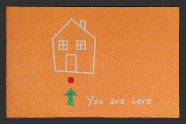 "Rockbites - Fußmatte ""You are here"" Orange Türmatte Fußabstreifer 100848 Nr.123"