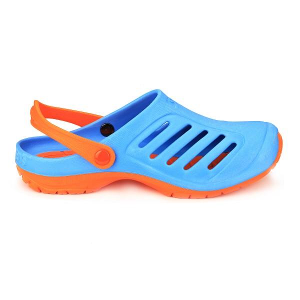 Cloggens 38-40 Blau Cloggs Sandalen Badeschuhe Schwimmschuhe Strandschuhe