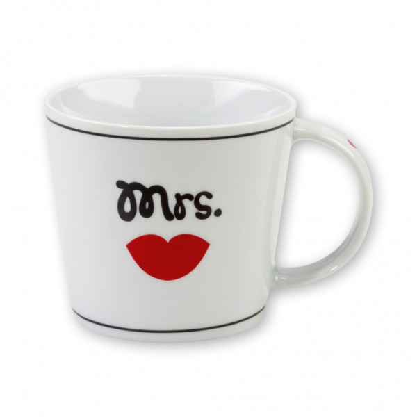 "Sheepworld Gruss & Co - Tasse ""Mrs."" 32cl Kaffeetasse Kaffeebecher 42713"