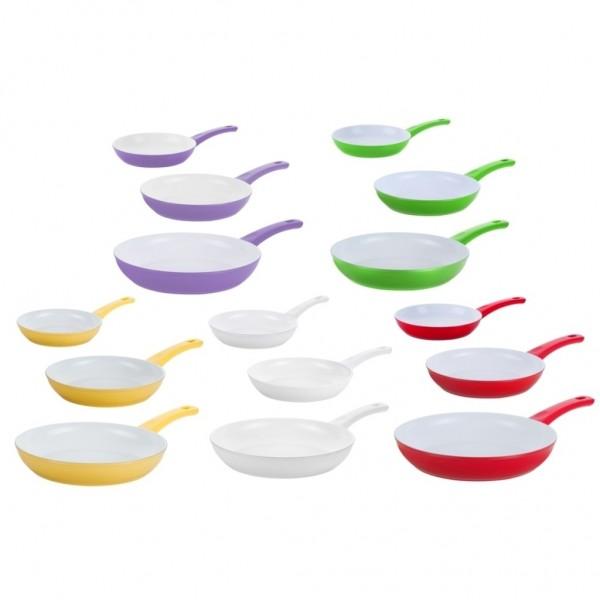 Genius Cerafit Style Pfannen Set mit Keramik-Beschichtung 3-tlg - Auswahl Farbe
