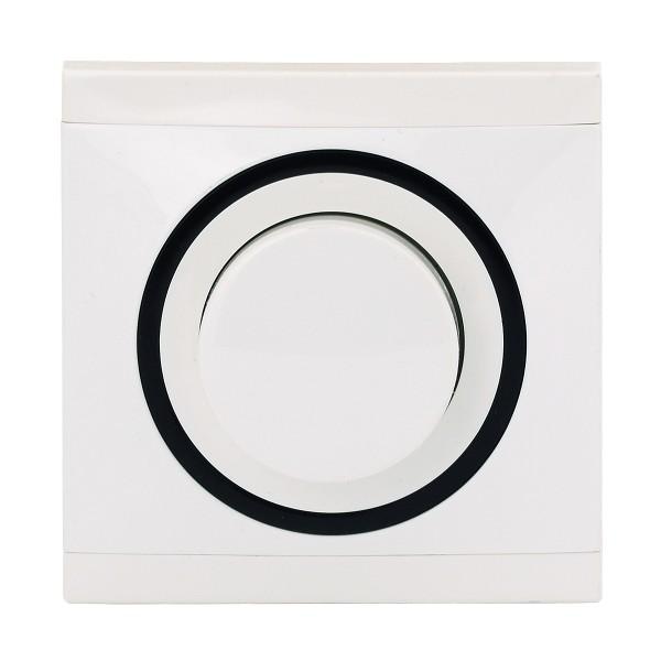 REV Ascoli weiß/schwarz Helligkeitsregler NV 500 VA 929104 Lichtschalter Dimmer