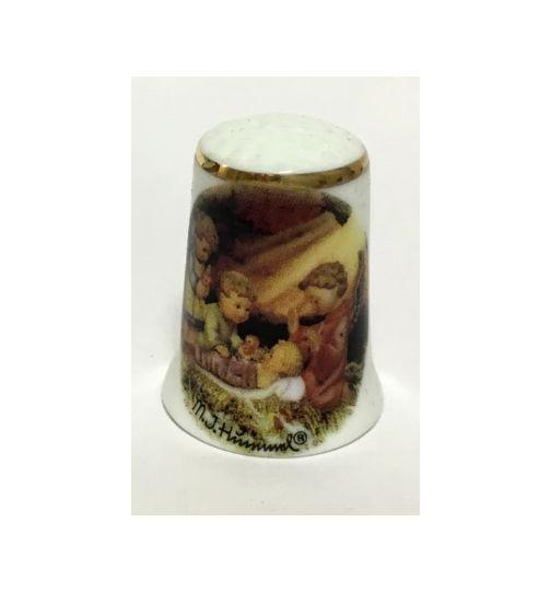 Reutter Porzellan Miniaturen - Fingerhut Hummel Weihnacht Stille Nacht 21.244/0