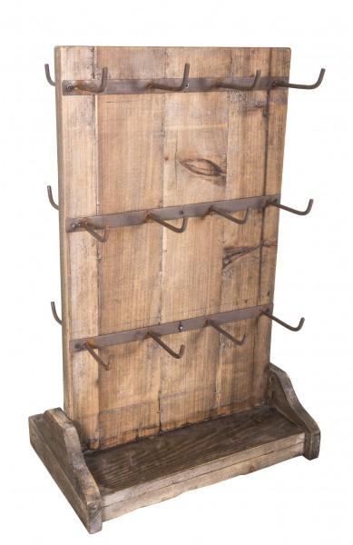 Tassenständer Becherständer Tassenhalter Holz 24 Haken Antic Line SEB16162