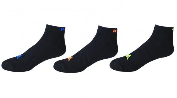 Kappa - Socken 3-24 Paar Gr. 39-42 43-46 Schwarz Kurz Sport Herren Damen 303IKCO