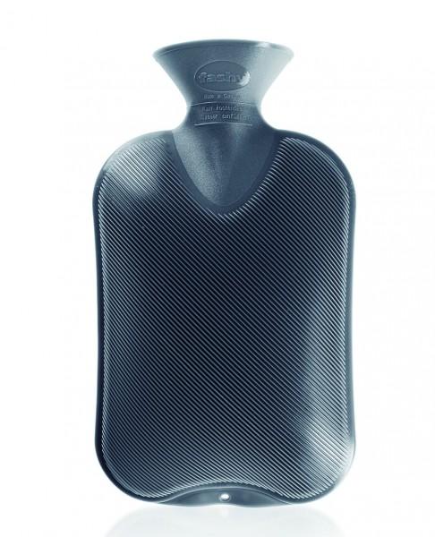 Wärmflasche Kunststoff Grau Doppellamelle 2 gleiche Seiten 2L Fashy 6460-21