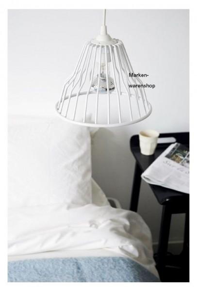 "Cabanaz - Lampe ""Jailbird Lighet"" weiß Ø21cm Hängelampe Licht Leuchte"
