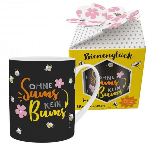 """Sheepworld - XL Kaffee- Tasse mit Blumensamen """"Ohne Sums ..."""" Bienenglück 46559"""