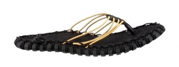 Neu NIKE Herren / Damen sandalen schwarz black / metallic gold Gr. 35