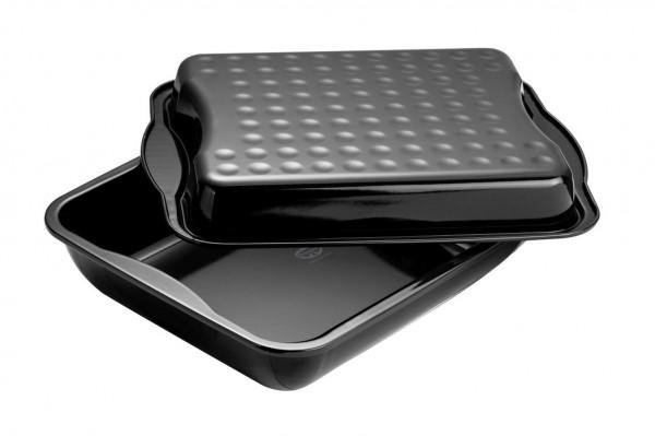Dr. Oetker - Back-Idee Maxi - Bräter mit Deckel Emaille 40x34cm Bratform (1301)