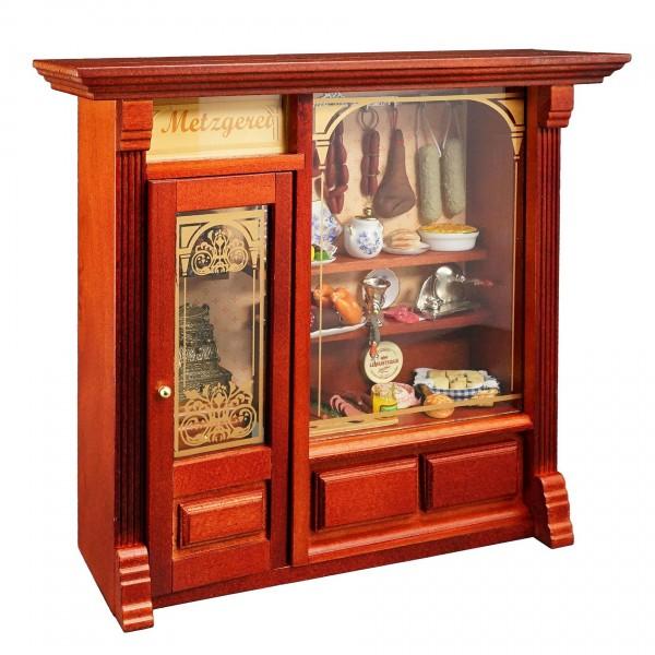 Reutter Miniaturen - Wandbild Metzgerei Schaufenster 24x21,5cm (1.797/4)