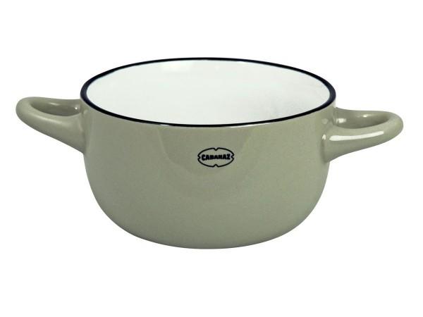 Cabanaz - Schüssel Keramik Grau (1201713) Schale Müslischale Dessertschale Retro