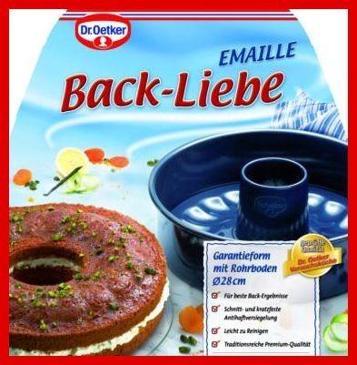 Dr. Oetker - Back-Liebe Garantieform + Rohrb. 28cm blau
