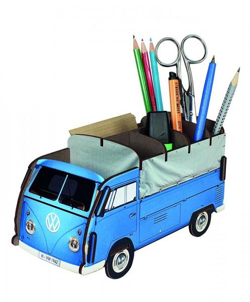 Werkhaus - Stiftebox VW T1 Bus Bulli Pritsche Blau WE2031 Stifte- Halter Köcher