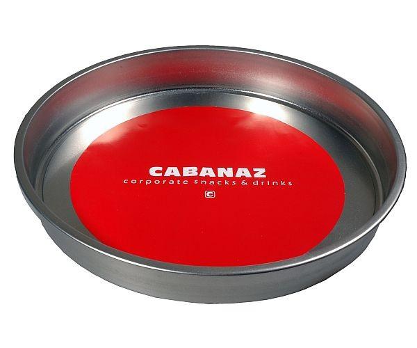 Cabanaz - Serviertablett Tablett Ø33cm, Randh. 4cm, Rot