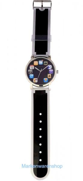 """Nextime - Armbanduhr """"Wrist Pad"""" Schwarz (6010) Uhr Watch Wristpad"""