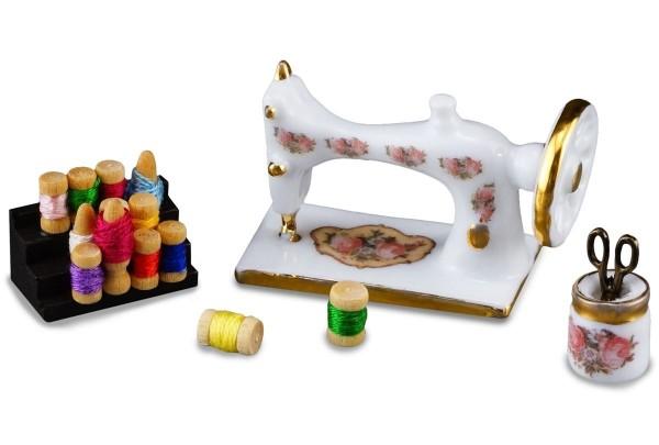 Reutter Porzellan Miniaturen - Porzellan Nähmaschine (1.325/6) für Puppenstube