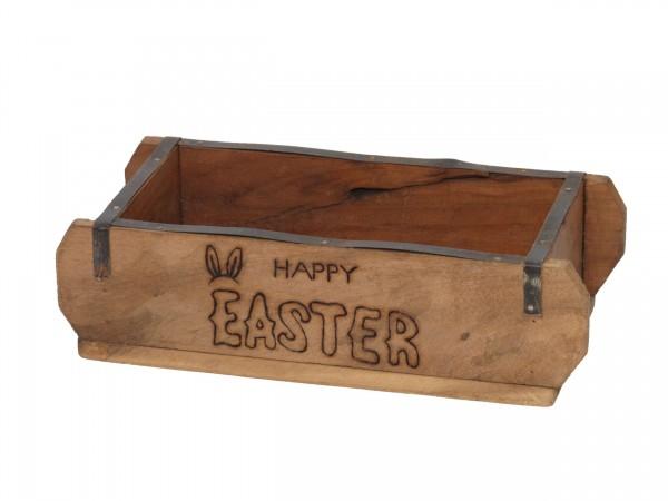 "Laursen Ziegelform ""happy Easter"" neu Unika alte Backsteinform Holz Box Kiste"