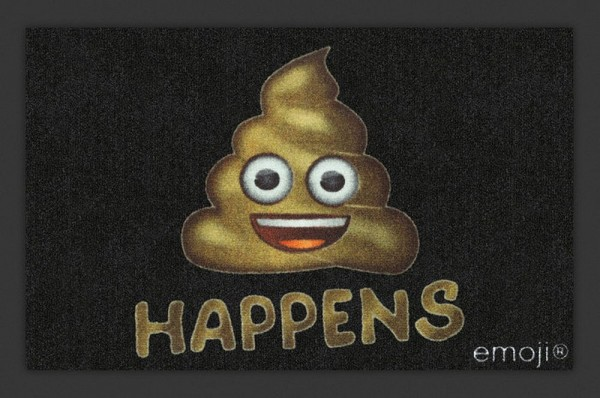 "Rockbites - Fußmatte ""Emoji Shit Happens"" Türmatte Fußabstreifer (100907) Nr.111"