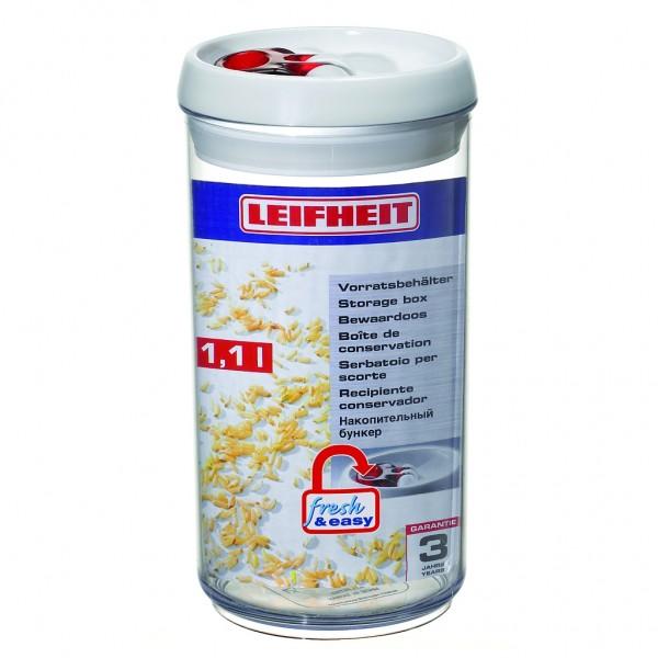 Leifheit Vorratsbehälter, Vorratsdose fresh & easy 1,1l rund