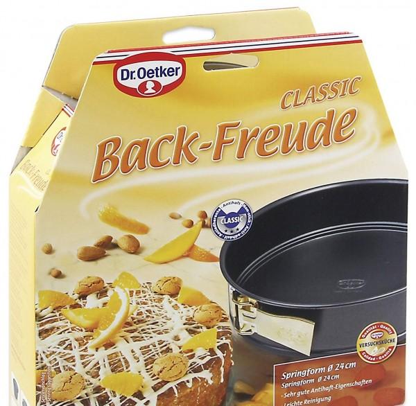 Dr. Oetker - Back Freude Classic Springform 24cm (2512) Rund- Kuchen- Back- Form