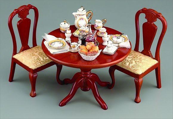 Reutter Porzellan Miniaturen - Tisch Frühstück 1.754/0 ohne Stühle Puppenstube*