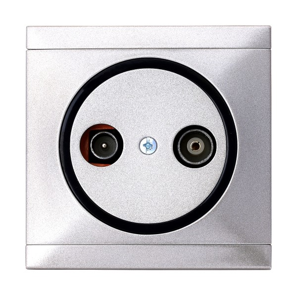REV Ascoli Titan Silber Antennen-Dose Sat-Dose Dose inkl. Rahmen 922108