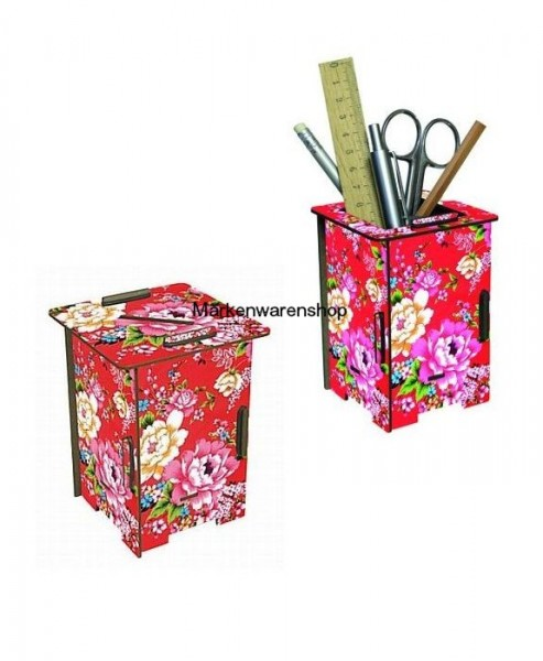 Werkhaus - Twin Box Blumen, Stifeköcher Stiftebox Twinbox Spardose
