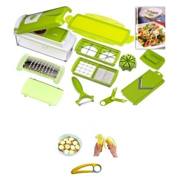 14-tlg. Genius Nicer Dicer Gemüseschneider Küchenhobel Kiwi + Bananenschneider