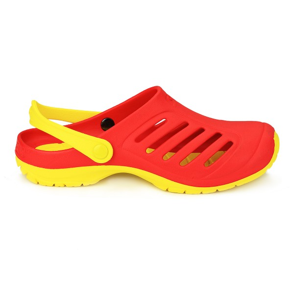 Cloggens 41-43 Rot Cloggs Sandalen Badeschuhe Schwimmschuhe Strandschuhe
