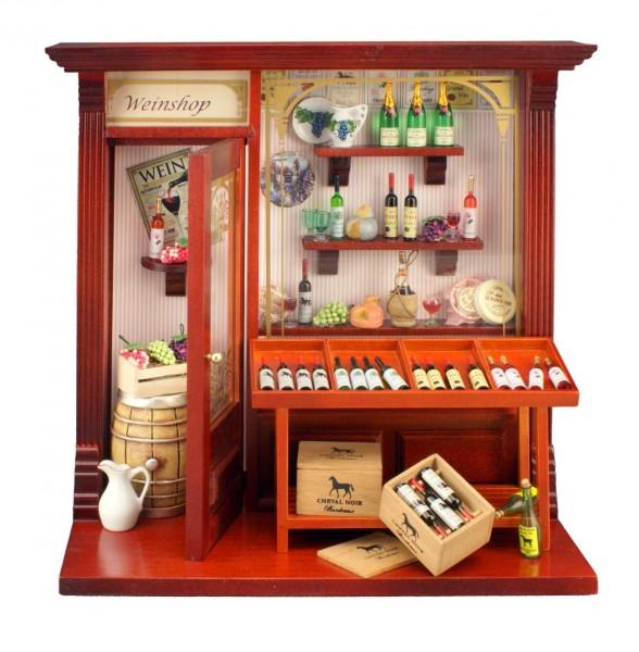 """Reutter Porzellan Miniaturen - Wandbild """"Weinladen"""" 21x21cm (1.794/4) Bild Wein"""