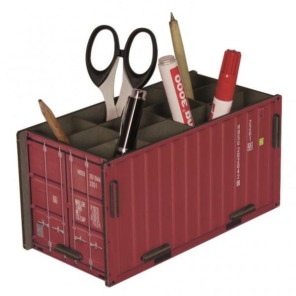 """Werkhaus - Photo - Stiftebox """"Container"""" Rot Stiftehalter Stifteköcher (CO1012)"""