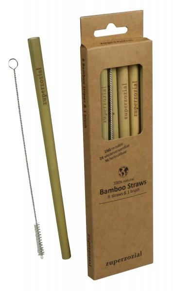 Zuperzozial - Bambus Trinkhalme Strohhalme wiederverwendbar 1450100