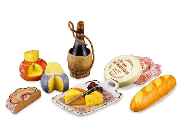 Reutter Porzellan Miniaturen - Petit Paris (1.852/6) Brotzeit Vesper Käse Set