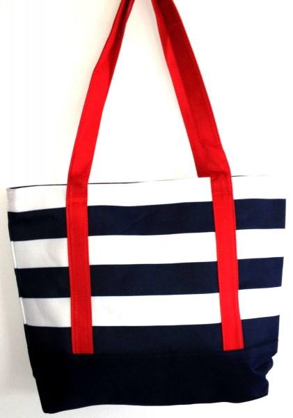 Tasche Blau Weiß gestreift Strandtasche Badetasche Umhängetasche Nr. 21