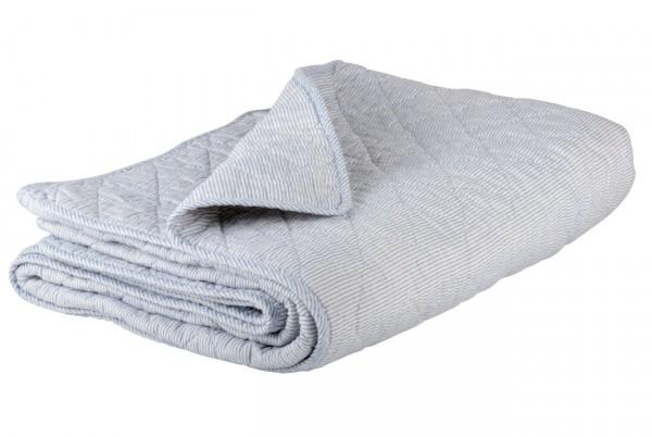 Decke Quilt Tagesdecke Überwurf gestreift Blau Weiß 180x130cm Ib Laursen 0788 00