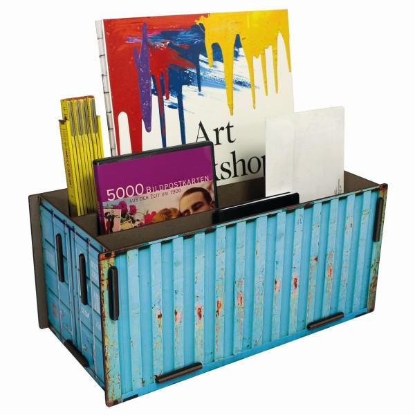 Werkhaus - Sorter Container Türkis CO1403 Box Köcher Ablage Schreibtischzubehör