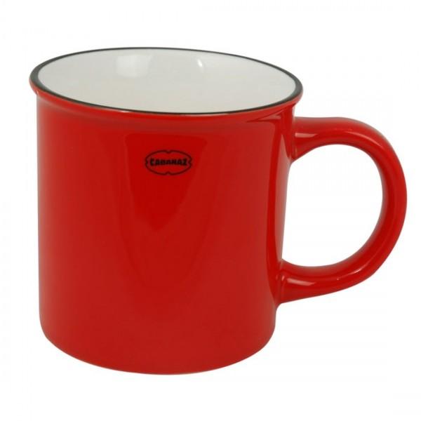 Cabanaz - Keramiktasse 0,25l Rot 1201440 Tasse Kaffeetasse Becher Teetasse Retro