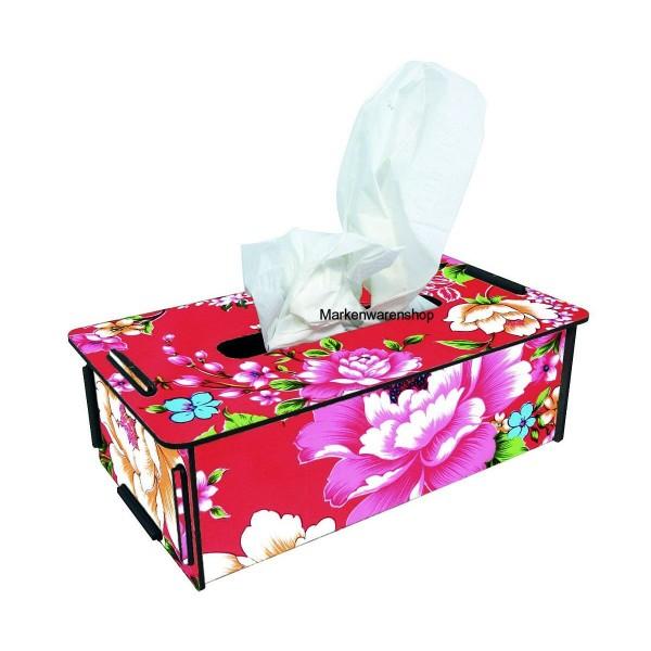 Werkhaus Tücherbox Blumen, Tissue Box Kosemtiktücherbox Tücherspender