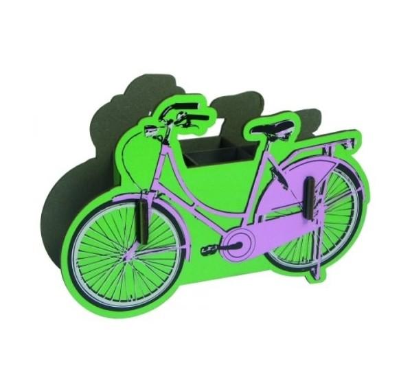 Werkhaus - Stiftebox Fahrrad PP3404 Pink Damen- Zwei- Rad Stifte- Köcher Halter