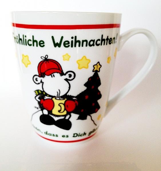 Limited Sheepworld - Weihnachtstasse schön das es dich gibt Tasse Kaffeetasse